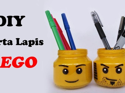 DIY: Porta Lápis do LEGO (Lego Head Pencil Holder - Especial Volta as Aulas)