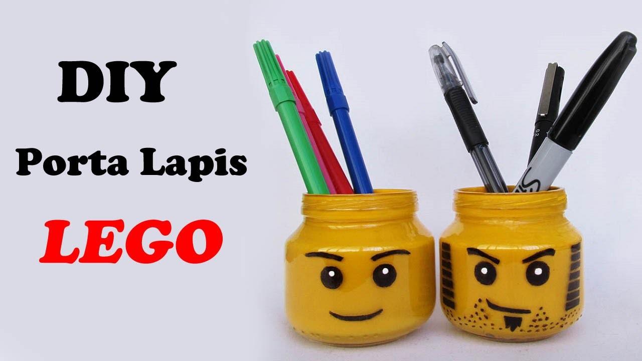 DIY: Porta Lápis do LEGO (Lego Head Pencil Holder - Especial Volta as Aulas)