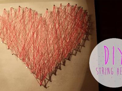 DIY String Heart | YouSawNowDoIt