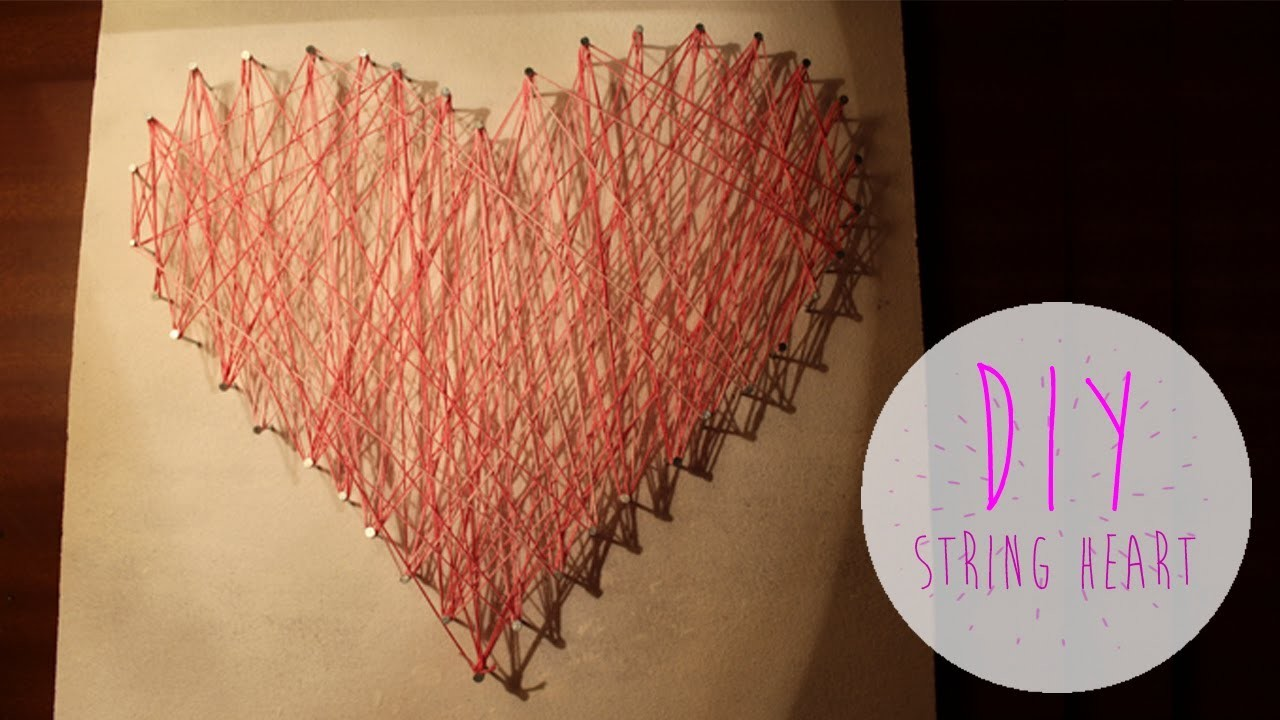 DIY String Heart | YouSawNowDoIt