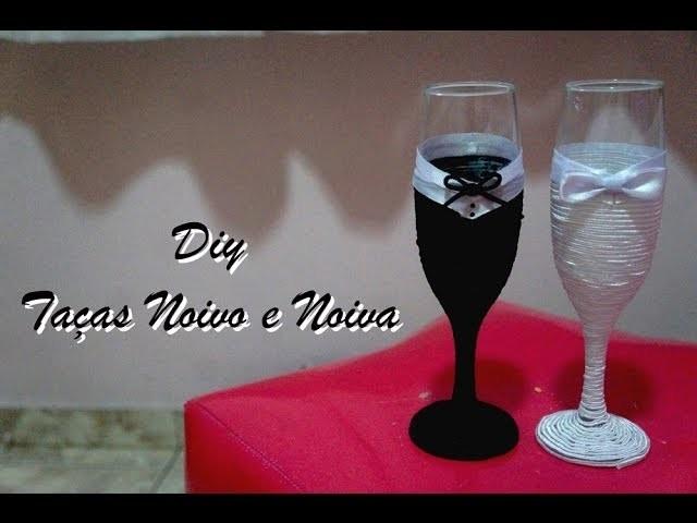 DIY - Taças Noivo e Noiva