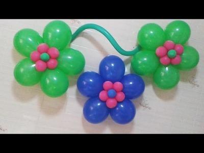 Flor de Balão ( balloon ) Tutorial de flor fantasia