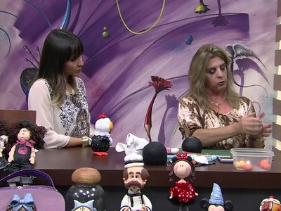 Mulher.com 06.08.2014 - Galinha Biscuit Saleiro por Regina Fracaro - Parte 1