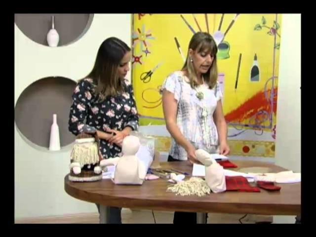 Mulher.com 17.11.2011 - Enfeite de mesa de Papai Noel 1.2