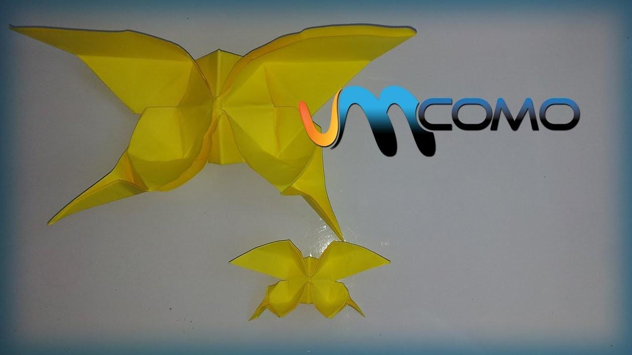 Origami - Como fazer uma borboleta de papel