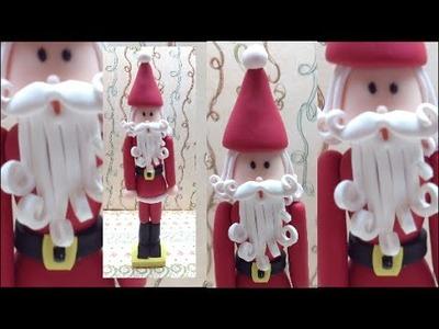 Santa Nutcracker. Quebra Nozes Pai Natal - Polymer clay (Fimo)