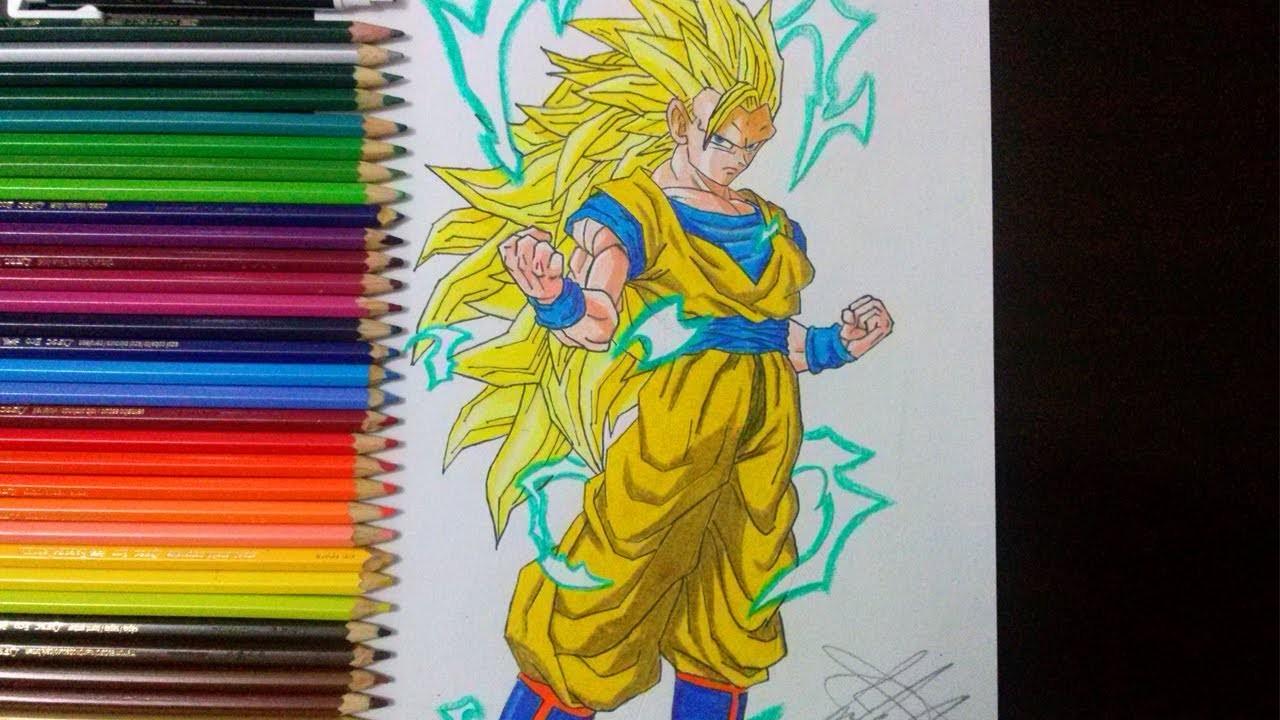 Desenho De Saiyan Para Colorir: Top Tutoriais: Como Desenhar O Goku Super Saiyajin 3 (How