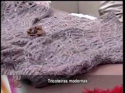 Tricoteiras do grupo CKL no programa Mulheres. 03 de 03