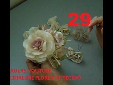 AULA 29: ESCOLHA DO TECIDO PARA FAZER FLORES DE CABELOS E ROUPAS DE FESTAS