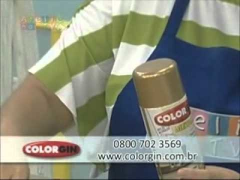 Colorgin no Ateliê na TV - Flores de PET reciclado pintadas com Spray Colorgin