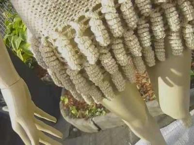 "Conj. em croche""Pixaim""Top saia, Häkelset ""Pixaim""Oberteil.Rock.crochet skirt corkscrew"