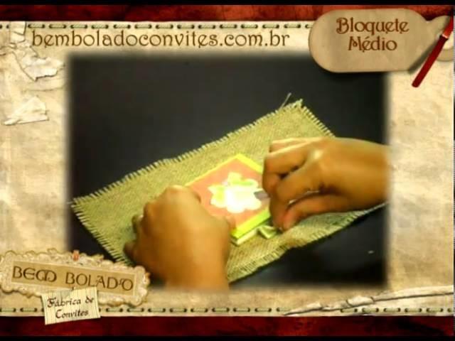 Convite infantil Bloquete Medio.
