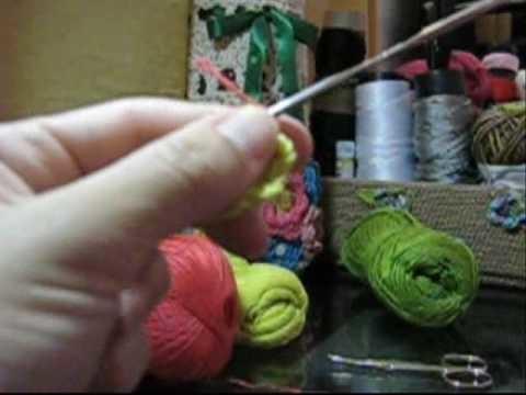 Croche - Almofada Floral - Parte 01