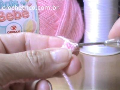 Crochê - Colete Pipoca (0 à 3 meses) - Parte 01.05