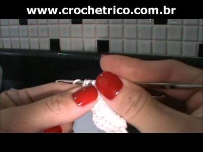 Crochet - Calcinha Branca - Parte 02.08