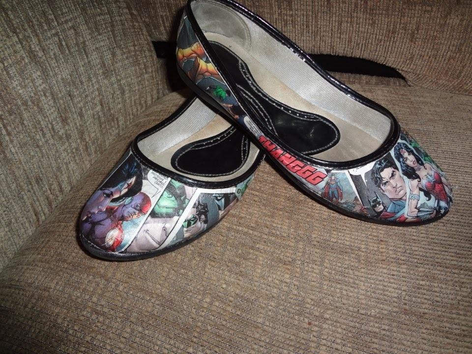 DIY - Sapato com revista Por LariKoze [faça você mesmo]