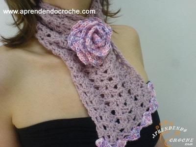 Gola Croche Roses - 1º Parte -  Aprendendo Crochê