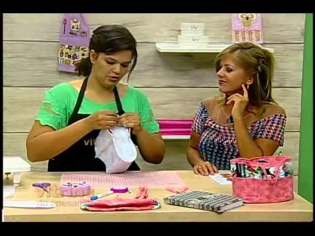 Organizador de bolsa com Renata Silva - Vitrine do Artesanato na TV