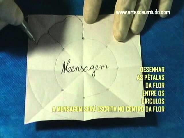 Origami FLOR MENSAGEM que abre na Água #05