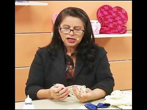 Puxa saco em crochê endurecido com Carmem Freire | Vitrine do Artesanato na TV