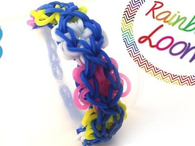 Rainbow Loom - Pulseira Flower Power