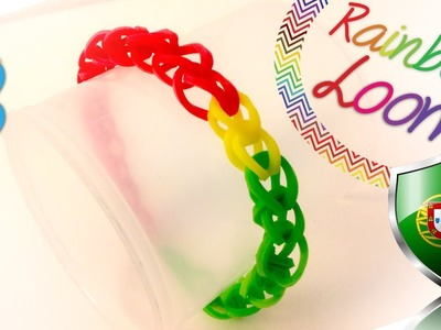 Rainbow Loom - Pulseira Single Band com as cores de Portugal