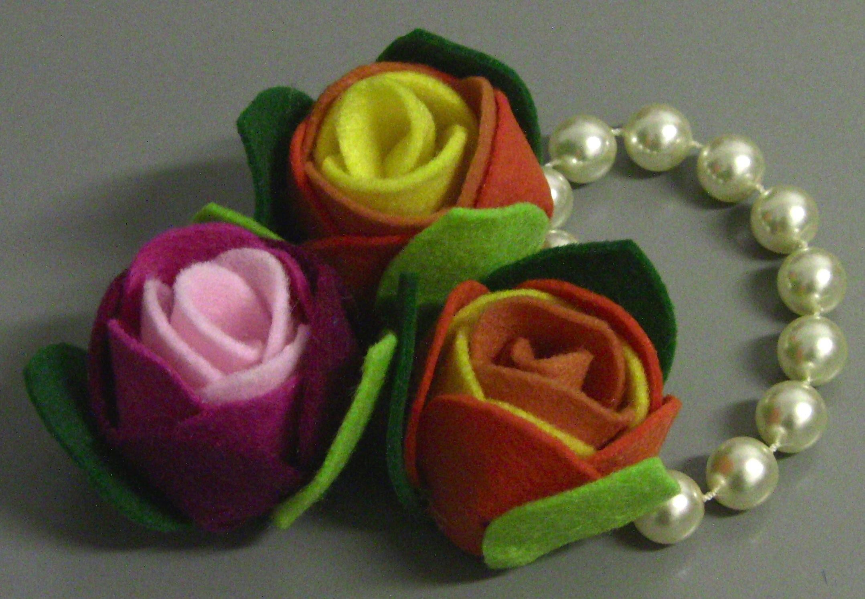 Rosas de Feltro Passo a Passo - flower