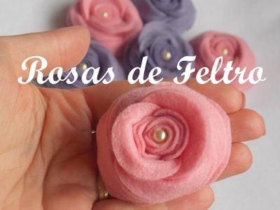 Rosas de Feltro - Passo a passo