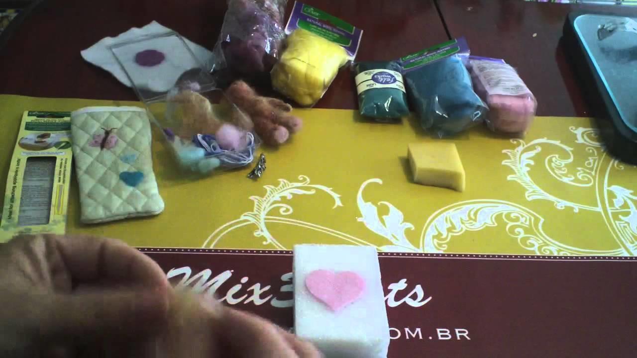 Técnica Básica de Feltragem - Uso de agulha para Feltragem Clover