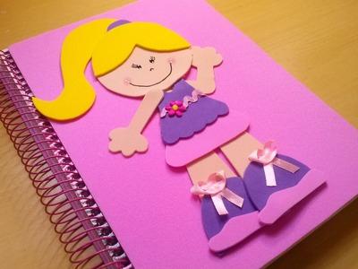 Como decorar o caderno em EVA  para a volta as aulas