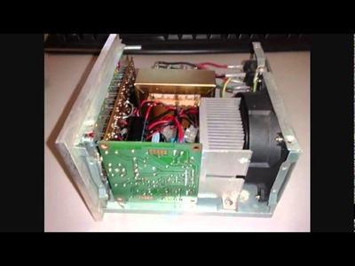 Amplificador TDA7294 montado em uma fonte de PC