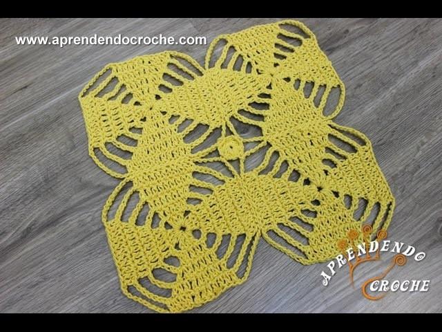 União Motivos Octógonos em Crochê - Aprendendo Croche