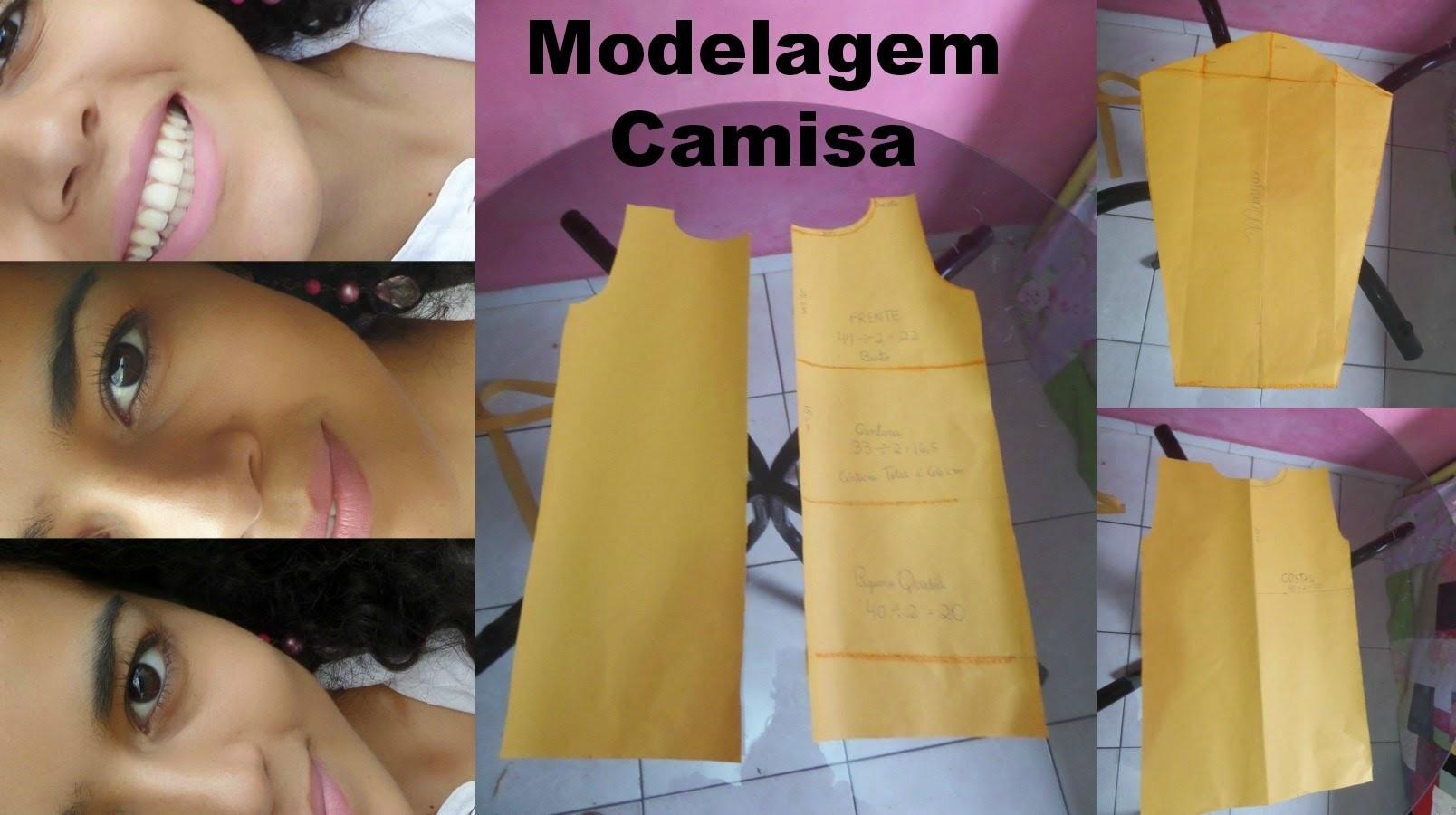 Para iniciantes  - molde de camisa simples por Alana Santos Blogger