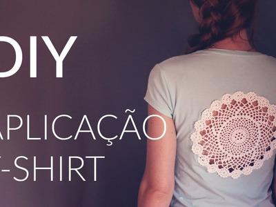 DIY - Aplicação em crochet - doily t-shirt