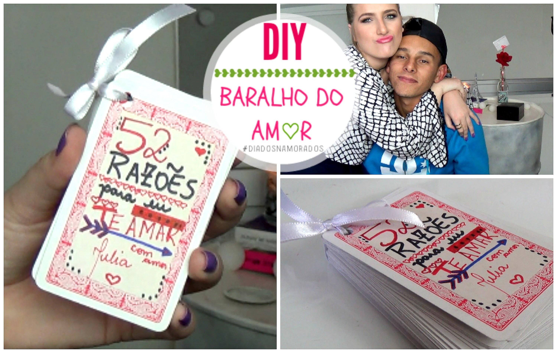 DIY ♥ Presente para o Dia dos Namorados. Fácil!   Baralho do Amor