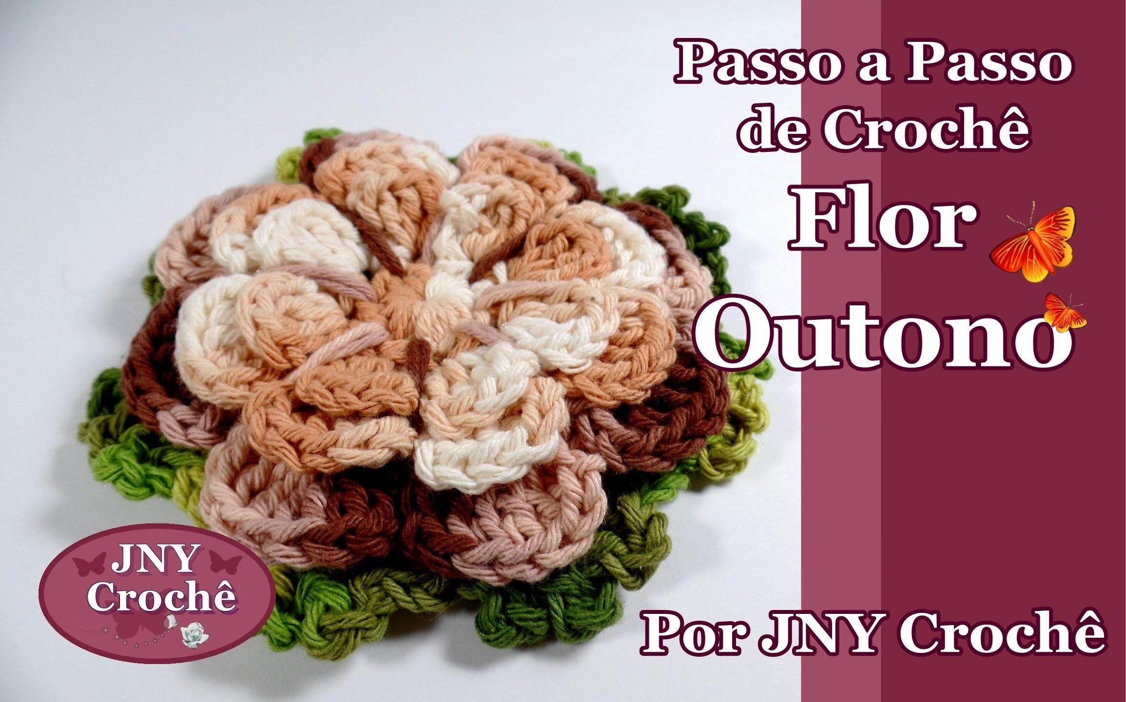 Passo a Passo de Crochê Flor Outono por JNY Crochê