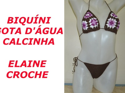BIQUÍNI CROCHÊ GOTA D' ÁGUA - CALCINHA