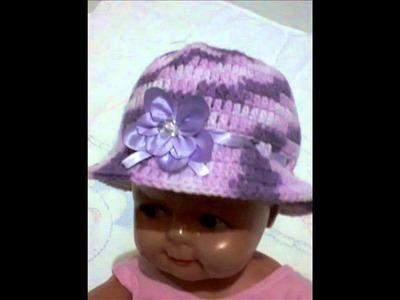 Chapéu em crochê para bebê