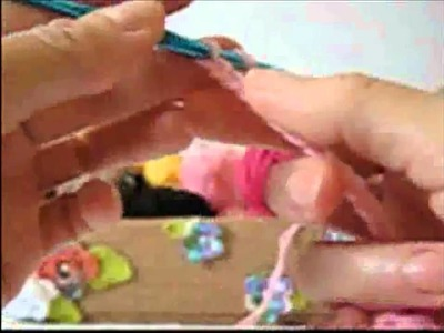 Crochê para Canhotas - Luvas Infantis com Dedinhos em Lã Rosa