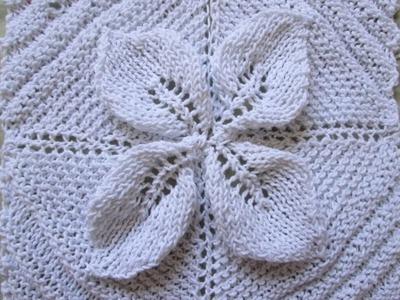 Square de folha de tricô PARTE 1