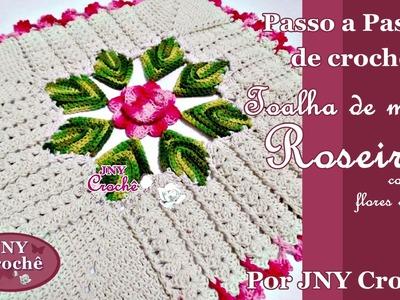 Toalha de mesa de crochê Roseira por JNY Crochê
