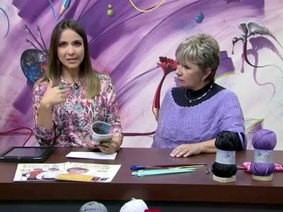 Vitória Quintal ensina pelerine com Cisne Celta - parte 1
