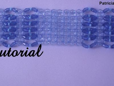 Bracelete de contas acrílicas. Acrylic beads bracelet. Tutorial