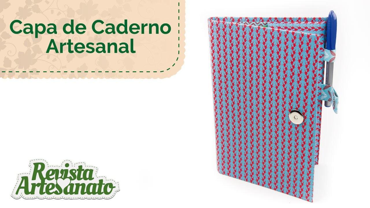 Capa de Caderno Artesanal - Linda e Fácil de Fazer