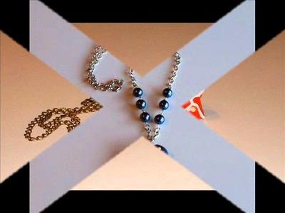 Colares em fimo. Polymer clay necklaces