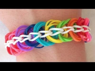 Como fazer pulseiras de elástico: Triple Link Chain #LoomBands (sem tear)