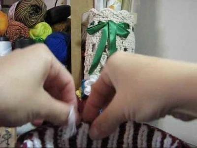 Crochê - Fios de Sedução - Pote para Presente - Parte 04.04