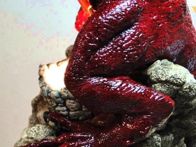 Escultura em massa de polymer clay (cerâmica plástica) - Dragão Vermelho