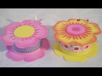 Manualidades para regalar: Cajita Flor de goma eva Foamy box
