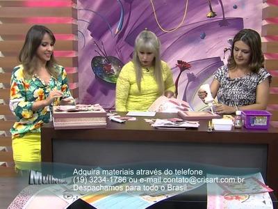 Mulher.com 03.10.2014 - Caixa com Scrap Decor por Marisa Magalhães - Parte 1